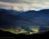 retro rocky mountain postcards