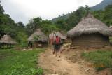 walking through their village