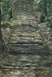 Several of the 1,900 ancient steps up to the first ruins