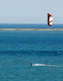 Kite Boarder and Dungeness Spit