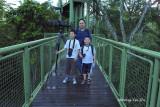 Sepilok - Peter Kan, Reuben Kan and Nicholas Wong on RDC canopy walkway