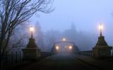 Toll bridge at dusk