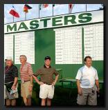 Chip at Masters Scoreboard