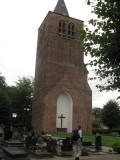 De huidige Steenselse kerktoren, een overblijfsel van de middeleeuwse St.-Luciakerk
