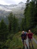 Hans en Marten met op achtergrond Mallnitzerscharte en Säuleck