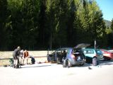 Parkeerplek bij station Dobbiaco
