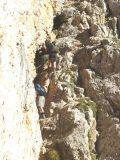Afdaling (Via Ferrata, klettersteig) vanaf Nuvolau hut naar Passo Giau