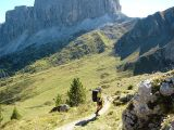 Tussen Forcella di Zonia en Forcella Giau (op de achtergrond de Monte Formin)