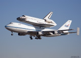 Space Shuttle Lands at NAS Fort Worth
