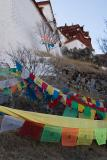 Prayer flags on the way up Potala.