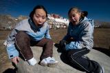 Aldri and Alissa doing the Joyce fish face.