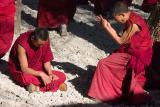 Monks debating.
