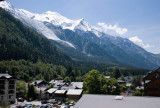View of the Bosson Glacier from our apartment