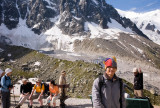 Getting ready to walk the Grand Balcon Nord from Plan du Midi to Montenvers (Mer de Glace)