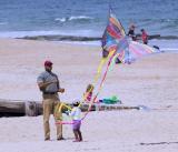 Flying a kite on Bethany Beach