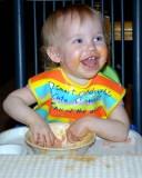 Little Dunkin sure is messy!