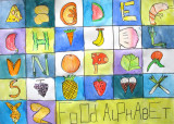 food alphabet, Jeri, age:9