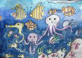 underwater, Isabel, age:7