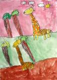 giraffe, Sophie Wang, age:5
