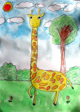 giraffe, Lin Hung Yu, age:5
