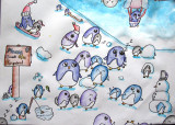 please count the penguins, Isabel, age:7