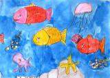 under water, Daniel Li, age:6
