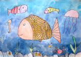 fish, Grace Lin, age:6