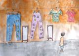 cloth shop, Ling Hui, age:8