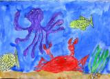 under water, Sophia Ying, age:5