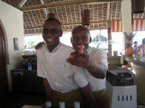 Our two favourite barmen Hussein and Othman