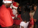 Santa handing out presents