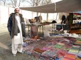 Local seller selling pashminas and scarves