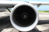 Airbus A-319 port engine