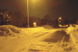 Streets and driveways are finally cleared by late evening.