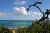 E10--View of St Barthelemy from Ilet Pinel, St Martin