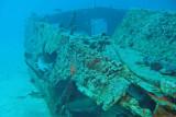 H85--Underwater St Maarten, The Bridge site wreck
