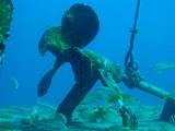 H88--Underwater St Maarten, Gregory Wreck propeller