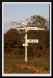 Old style sign post