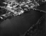 Aerial view of, Milton Flordia, in late 1960