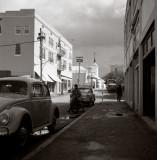 Hamilton, Bermuda street in the winter of 1962