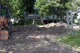 Back yard disaster zone