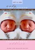 Twins BG Brown Blue Pink