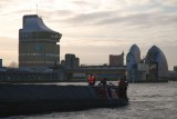 Passing through the Thames Barrier