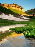Emerald lake snowmelt