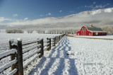 Fence shadow and barn.JPG