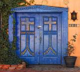 Double Blue Doors - Old Town - Albuquerque, New Mexico