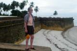 Eckhart auf den Mauern des  Forte Orange    P1020286.JPG