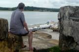 Eckhart auf den Mauern des  Forte Orange    P1020287.JPG