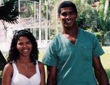 Nisinha e o Junior, o irmão dela no Hotel Fazenda Village Rio Verde 000034.JPG