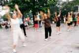Hanoi - traditional morning exercises